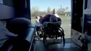 Loading Ambulance Interior — Stock Video