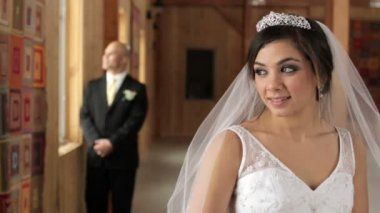 Bride in Foreground — Stockvideo