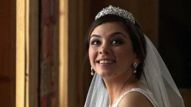 Bride With Petals — Stock Video