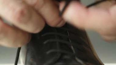 Shoe Lacing — Stock Video