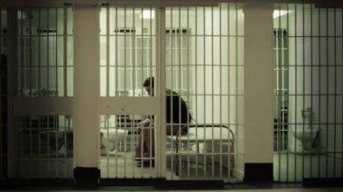 Prisoner in Cell — Stock Video