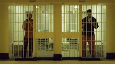 Bored Inmates — Stock Video