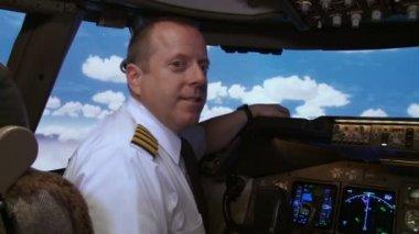 Jumbo Jet Pilot — Stock Video