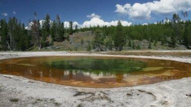 Yellowstone Chromatic Spring — Stock Video