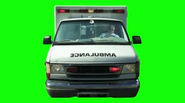 Ambulance Greenscreen — Stock Video