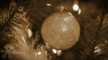 Retro Christmas Bauble — Stock Video