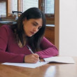 Woman filling in forms — Stock Video #50141101