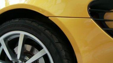Yellow sport car — Stock Video