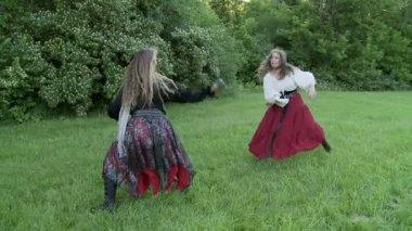 Kızlar kavga — Stok video