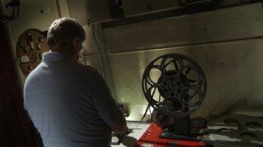 Film Splicing — Stock Video