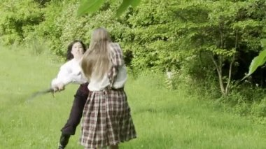 Sword Fight — Stock Video