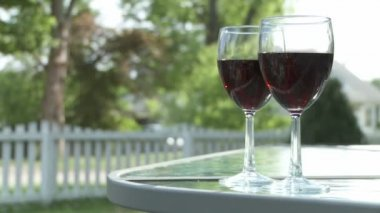 Red Wine Glasses — Stock Video