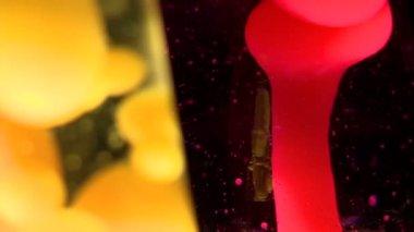 Lámparas de lava — Vídeo de stock