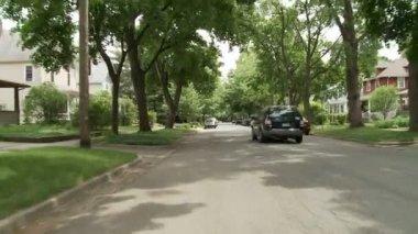 Driving suburbs — Stock Video