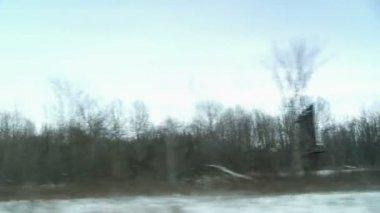 Winter Driving — Stock Video