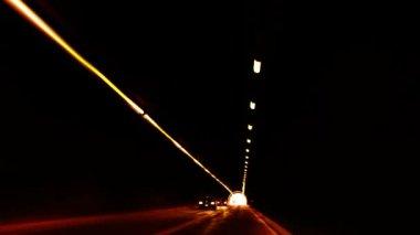 туннель света — Стоковое видео