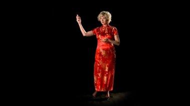 Oriental Dress Gestures — Stock Video