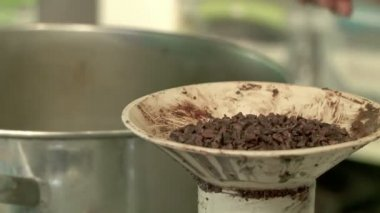 Juicing Cocoa Nibs — Stockvideo