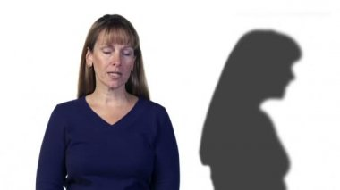 Shadow Disagrees with Woman — Stock Video