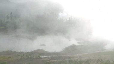 Yellowstone fumante — Video Stock