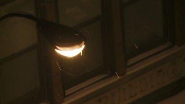 Lantern on street — ストックビデオ