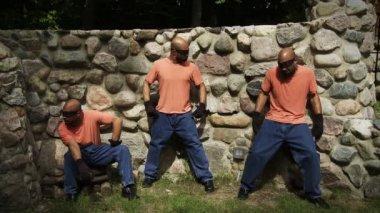 Three Funny Criminals — Stock Video