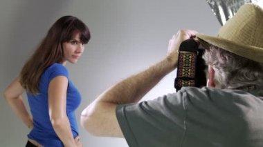 Getting Head Shots — Stock Video