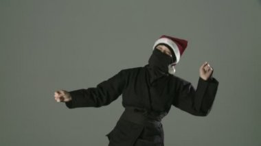 Dancing Santa Ninja — Stock Video