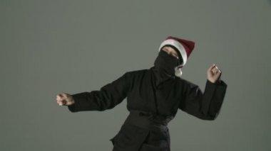 Dancing Santa Ninja — Stock Video