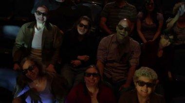 Audience Watching Movie — Stock Video