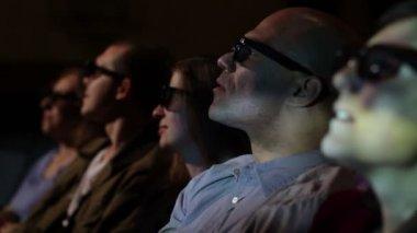 Man At Movie — Stock Video