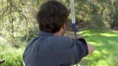 Archery Practice — Stock Video