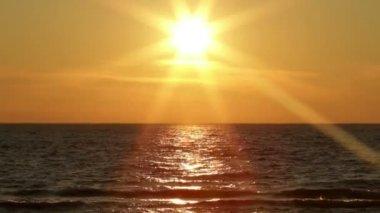 Sjön sunset — 图库视频影像
