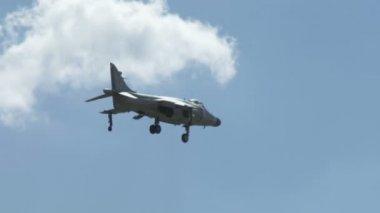 Harrier Jump Jet Hovering — Stock Video