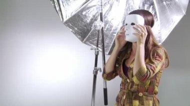 Masked Model — Stock Video