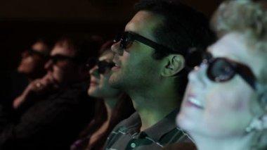 Man Watching Movie — Stock Video