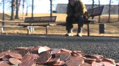Paved with gold — Stock Video