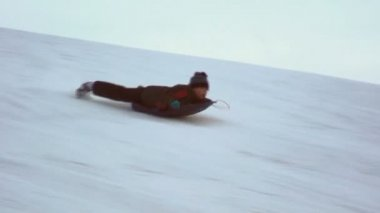 Sled Boy — Stock Video