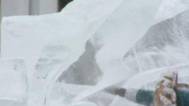 ледяной скульптуры — Стоковое видео