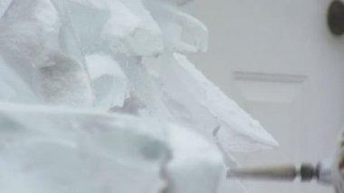 Escultura de gelo — Vídeo Stock