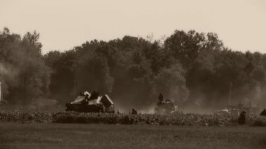 WWII Battle Scene — Stock Video