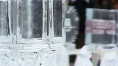 Esculturas de hielo — Vídeo de stock