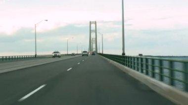 Mackinac Bridge Drive — Stock Video