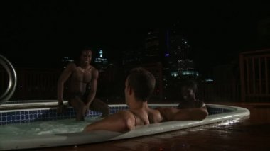 Hot Tub Night — Stock Video