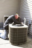 Air Conditioner Repairman — Stock Photo