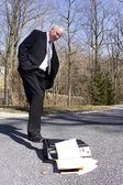 Businessman Quitting — Stock Photo