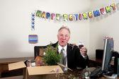 Celebrating Retiree — Stock Photo