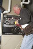 Furnace Maintenance — Stock Photo