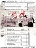 在税收面临 — 图库照片