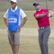 Постер, плакат: Zach Johnson with Caddy